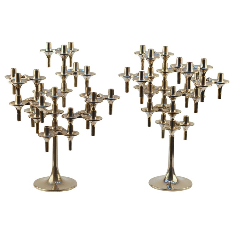 Pair of Modular Orion Candelabras by Nagel, 1960's For Sale