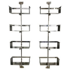 Pair of Modular Wall-Mounted Shelving System by Vittorio Introini for Saporiti