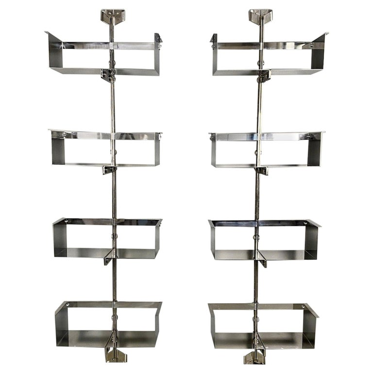 Pair of Modular Wall-Mounted Shelving System by Vittorio Introini for Saporiti For Sale