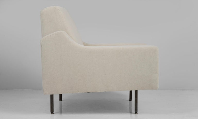 20th Century Pair of Mohair Armchairs by ISA, Italy, circa 1950 For Sale