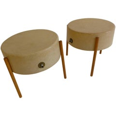 Pair of Molded Fiberglass Light Tables by Bill Lam