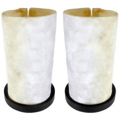 Pair of Molded Glass Table Lamps