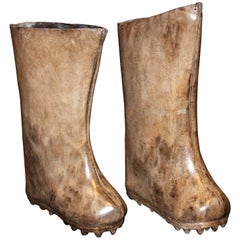 Pair of Mongolian Leather Boots