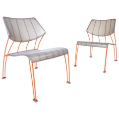 Pair of Monika Mulder PS Hasslo for Ikea Outdoor Lounge Chairs, circa 1990