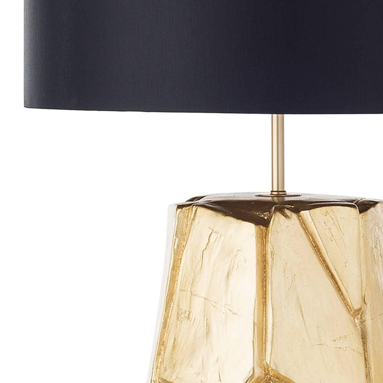 Brutalist Pair of Monolithe Ceramic Table Lamps For Sale