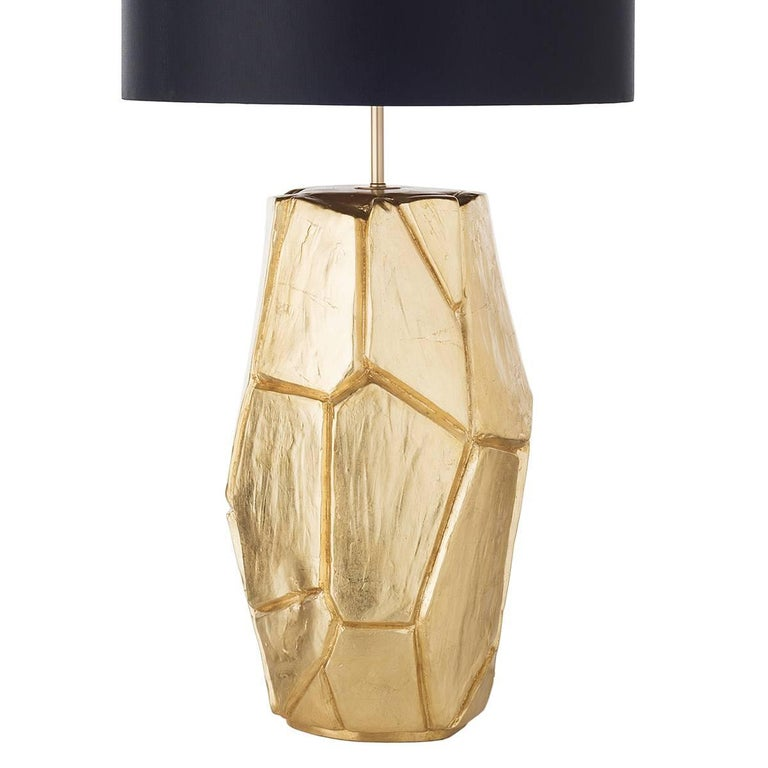 Contemporary Pair of Monolithe Ceramic Table Lamps For Sale