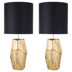 Pair of Monolithe Ceramic Table Lamps