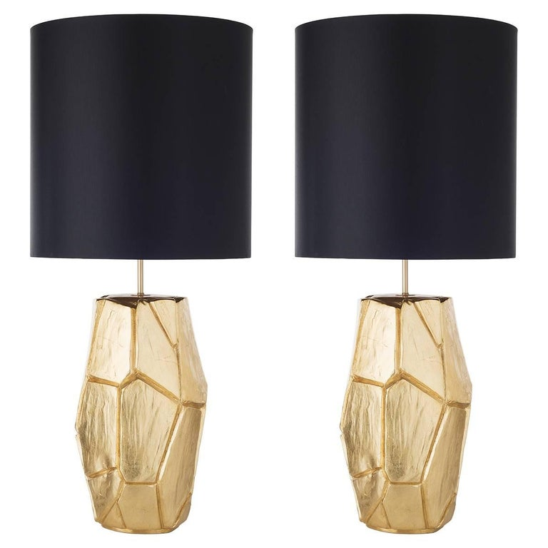 Pair of Monolithe Ceramic Table Lamps For Sale
