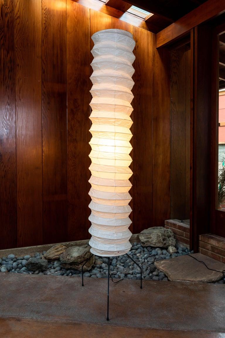 Pair of monumental Akari Light Sculpture Model UF4-31N by Isamu Noguchi For Sale 6