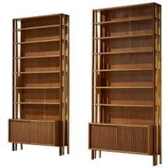 Pair of Monumental Bookcases in Mahogany