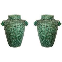 Pair of Monumental Ceramic Urns