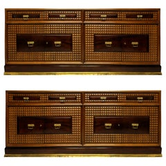 Pair of Monumental Credenza's in Walnut by Atelier Borsani