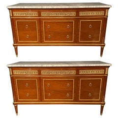 Pair of Monumental French Commodes in the Manner of Maison Jansen