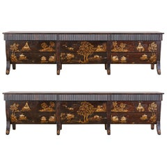 Monumental Rose Tarlow Japanned Dresser or Chests of Drawers