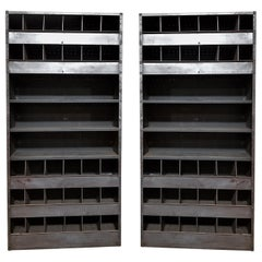 Pair of Monumental Midcentury Industrial Shelving Units
