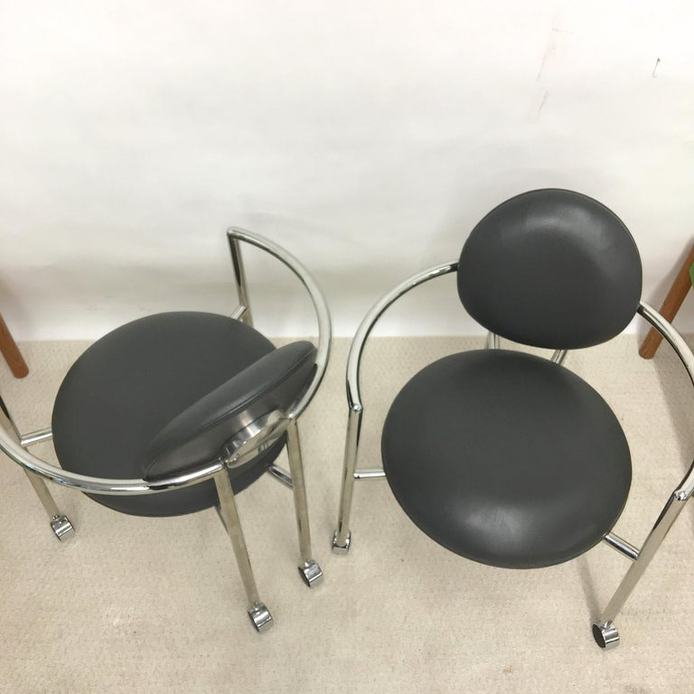 Pair of Moon Chairs by Stanley Jay Friedman for Brueton For Sale 2