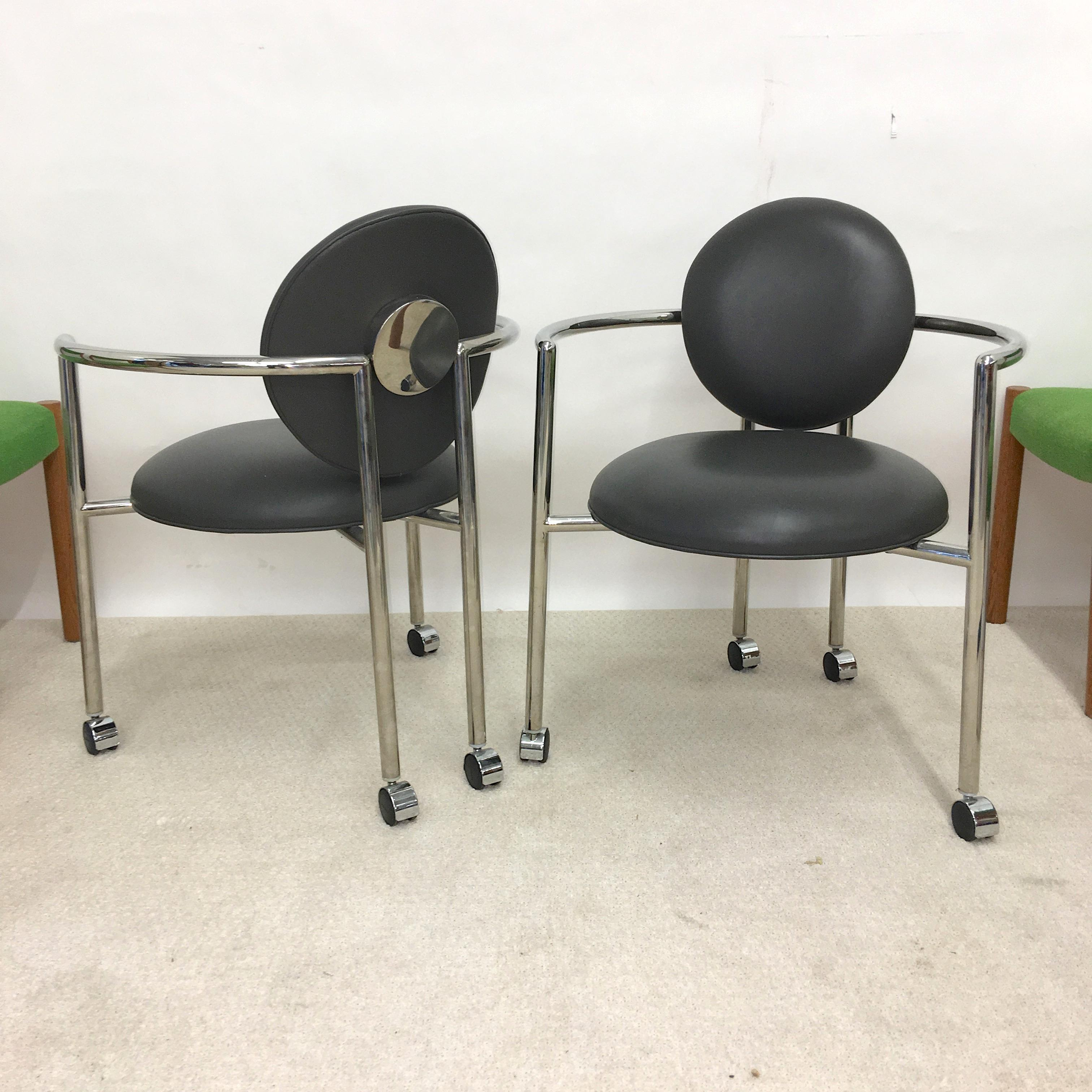 Pair Of Moon Chairs By Stanley Jay Friedman For Brueton At 1stdibs