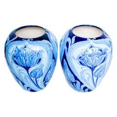 Pair of Moorcroft Florian Ware Tulip Vases