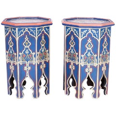 Pair of Moorish Painted Stands