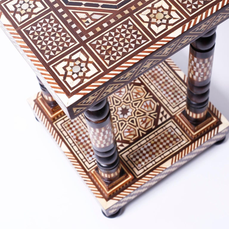 Pair of Moroccan End Tables or Stands For Sale 2
