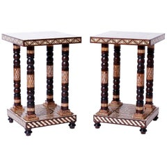 Pair of Moroccan End Tables or Stands