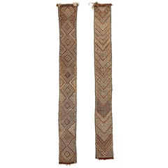 Pair of Moroccan Middle Atlas Berber Tent Bands, circa 1950
