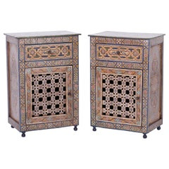 Pair of Moroccan Painted Cabinets
