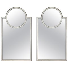 Pair of Mosaic Mirrors by Baker Furniture