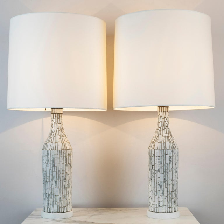 "Pair of ""Mosaic"" table lamps