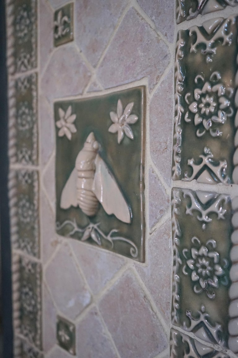 North American Pair of Mosaic Tile Garden Doors For Sale