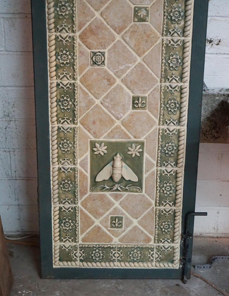 Pair of Mosaic Tile Garden Doors In Good Condition For Sale In Dallas, TX