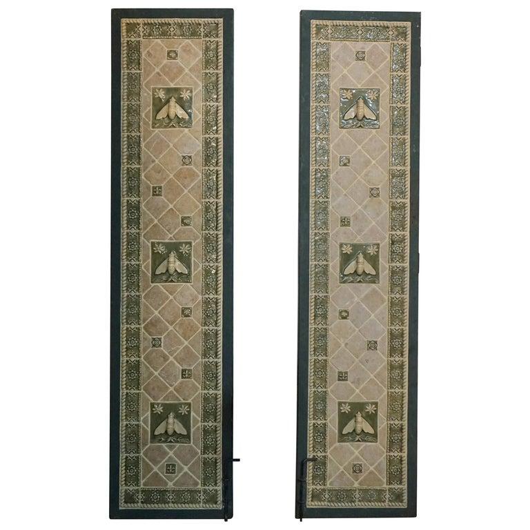 Pair of Mosaic Tile Garden Doors For Sale
