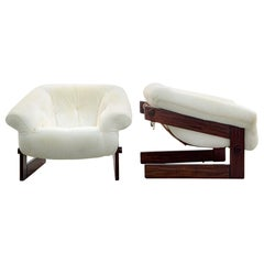 Pair of Mp 131 Lounge Chair, Jacaranda Rosewood, Brazilian Midcentury