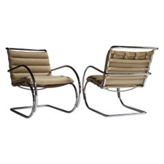 Pair of MR Lounge Armchairs by Mies van der Rohe