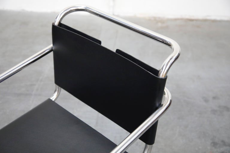 Pair of MR20 Armchairs by Ludwig Mies van der Rohe for Knoll, Signed For Sale 5