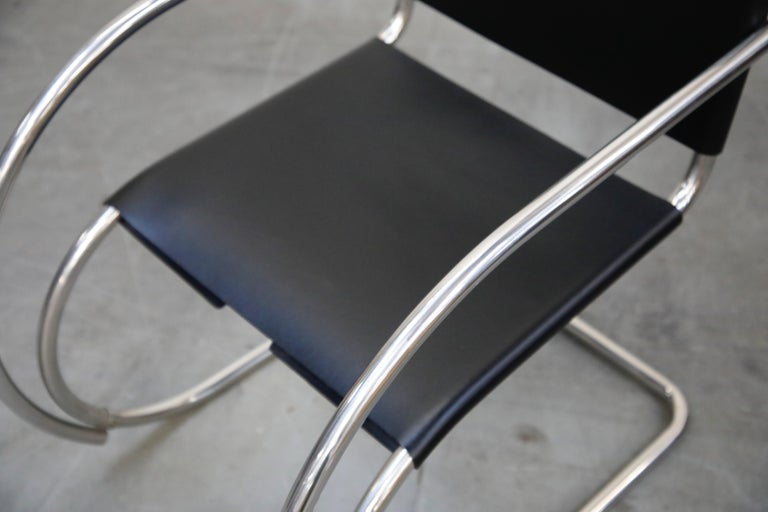 Pair of MR20 Armchairs by Ludwig Mies van der Rohe for Knoll, Signed For Sale 6