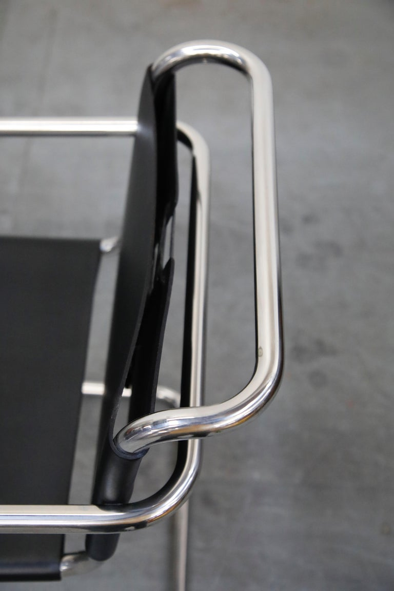Pair of MR20 Armchairs by Ludwig Mies van der Rohe for Knoll, Signed For Sale 7