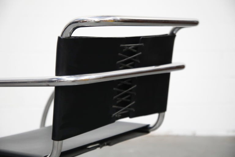 Pair of MR20 Armchairs by Ludwig Mies van der Rohe for Knoll, Signed For Sale 8