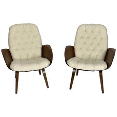 Pair of Mrs. Chair Lounge Chairs by George Mulhauser