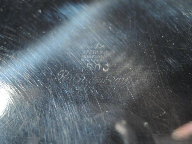 Pair of Mueck-Carey Rochambeau 3-Light Sterling Silver Candelabra For Sale 3