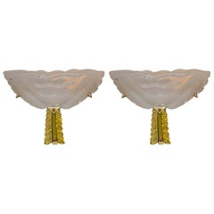 Pair of Murano Art Deco Style Sconces