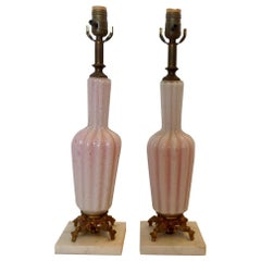 Pair of Murano Boudoir Lamps