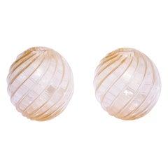 Pair of Murano Glass Balls, 1950s