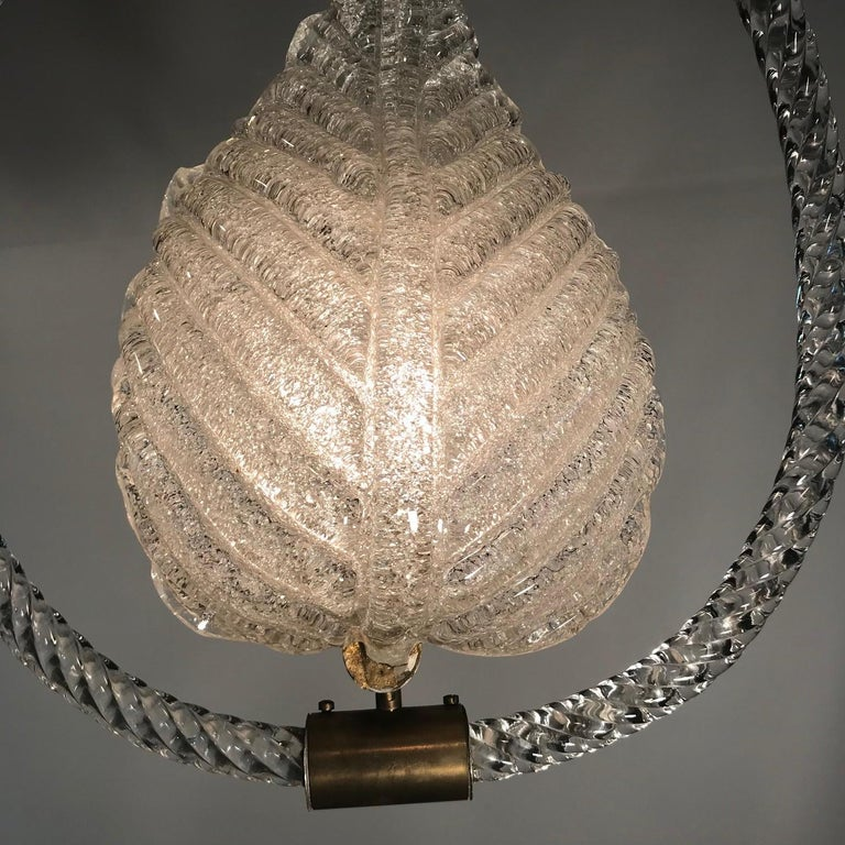 Pair of Murano Glass Fixtures by Barovier and Toso In Good Condition For Sale In Montreal, QC