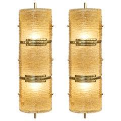 "Pair of Murano Glass ""Graniglia"" Sconces"