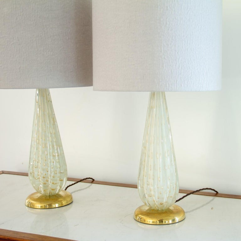 20th Century Pair of Murano Glass Lamps, 1960s For Sale