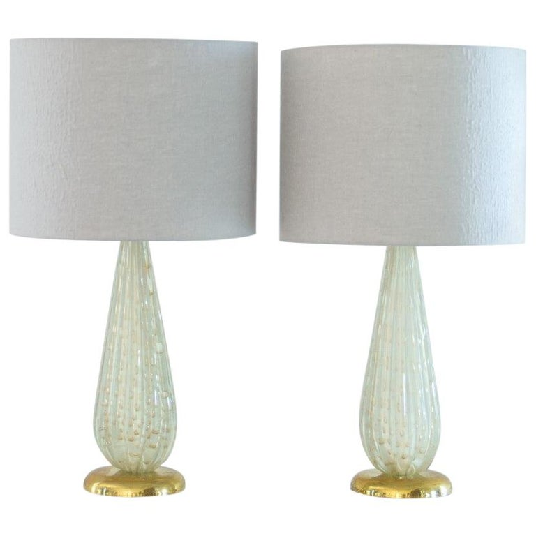 Pair of Murano Glass Lamps, 1960s For Sale
