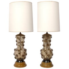 Pair of Murano Glass Lamps