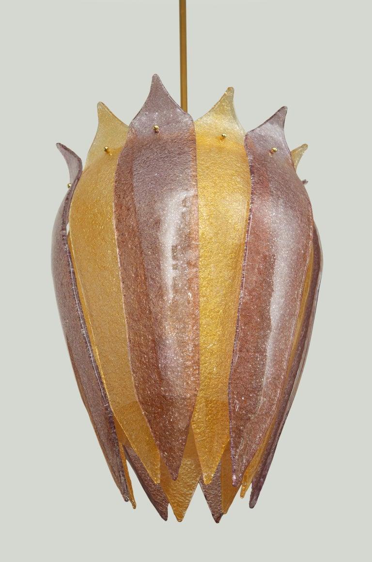 Renaissance Pair of Murano Glass Lantern or Cesendello, in Stock For Sale