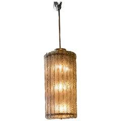 Pair of Murano Glass Lantern Chandeliers